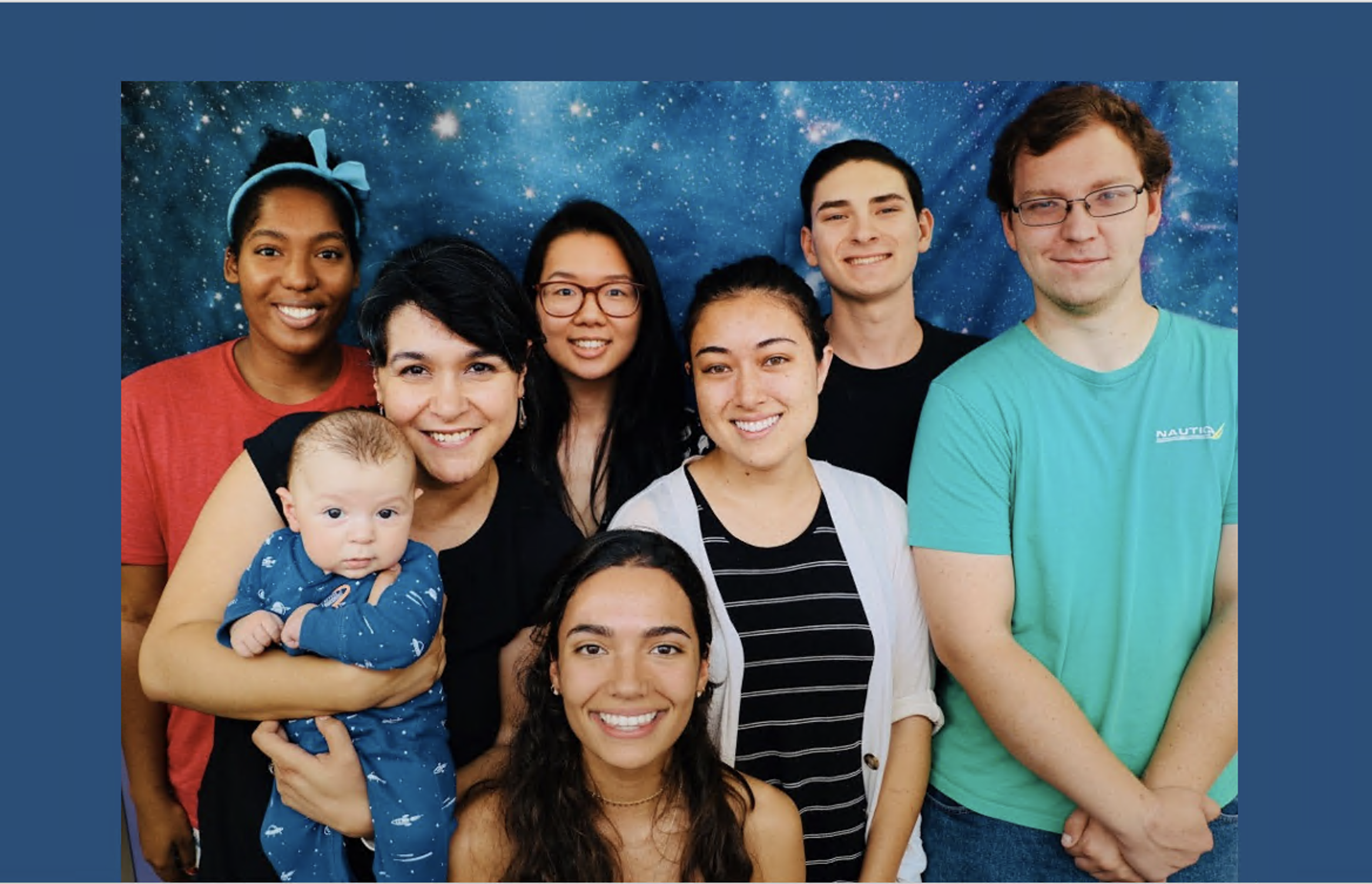 Intern, Cathryn Sephus, with her lab group.