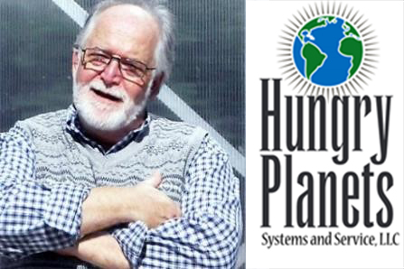 Portrait of Mike Munday and Hungry Planets Logo