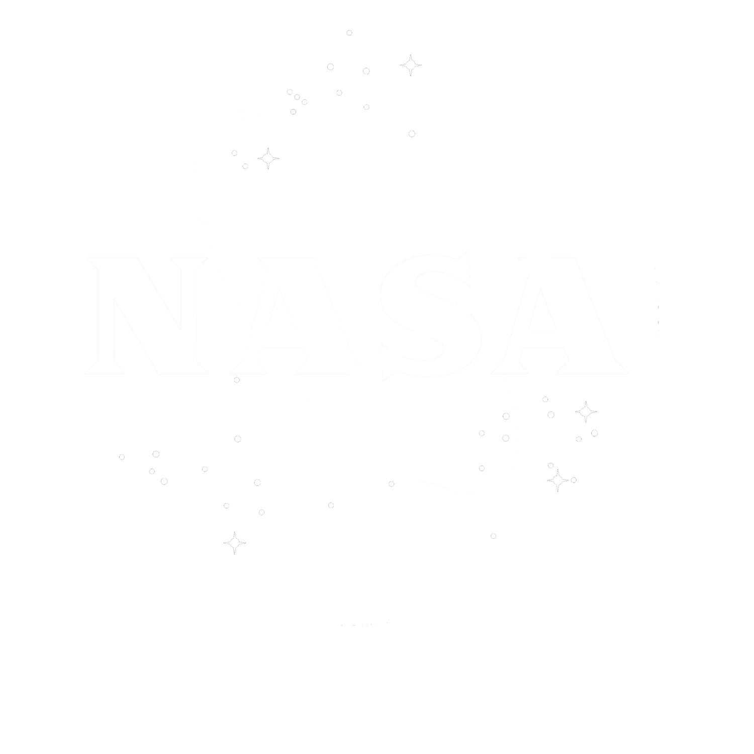 NASA Insignia White No Background