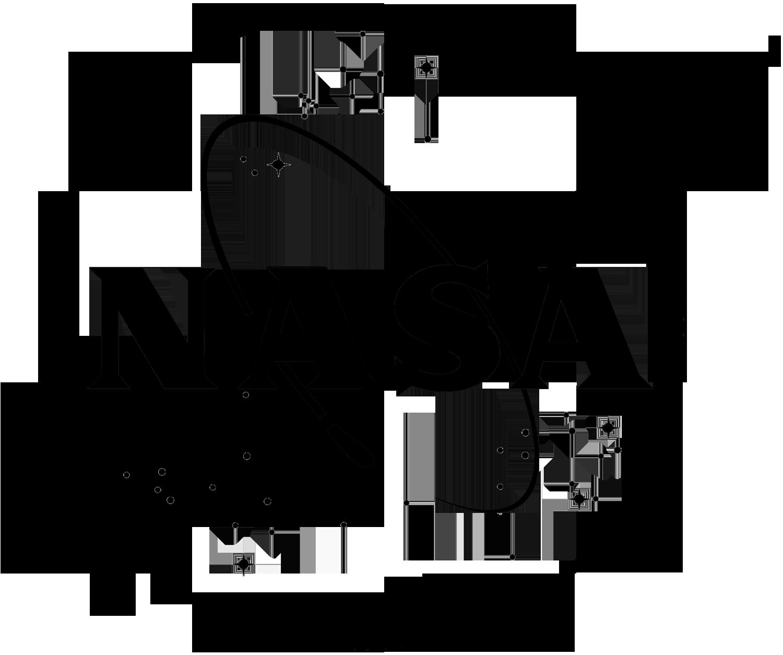 nasa emblem black and white - photo #2