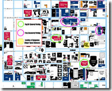 Parking map for the Syposium Presentation Sessions
