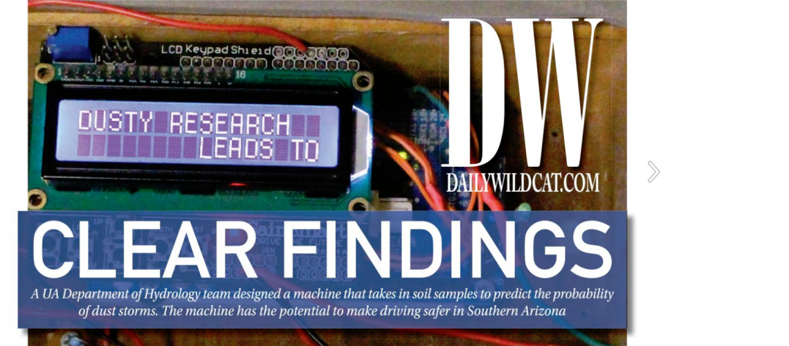 Daily Wildcat Cover featuring Ruby O'Brien-Metzger's research project