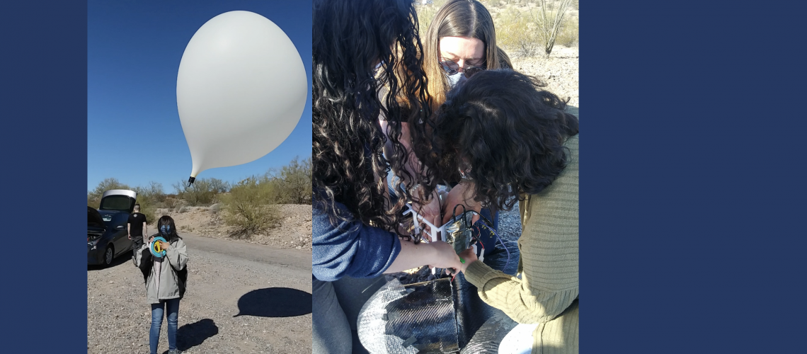 Phoenix College students working on their payload.