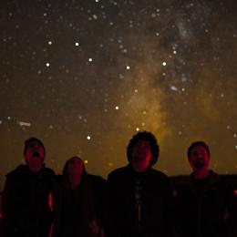 Four NAU students gaze at the Milky Way