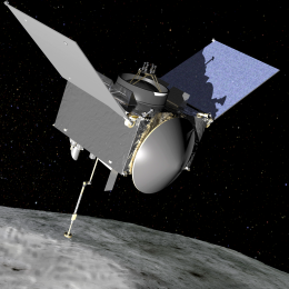 Artist rendering of NASA's OSIRIS-REx space probe. Source: NASA