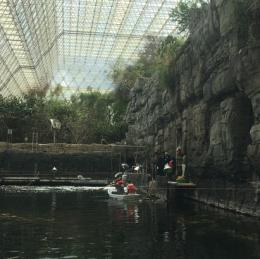 Students explore the ocean biome at Biosphere 2